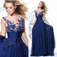 Chic Stylish Royal Blue Custom Made Evening Dress 2017 Prom Dresses
