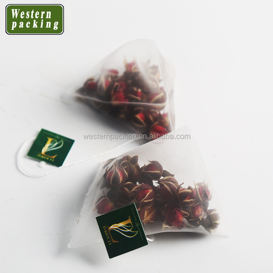 PLA Nylon triangle tea bags with string