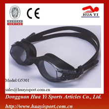 Side with auto clip design provide comfortable oem anti fog kids swimming goggles