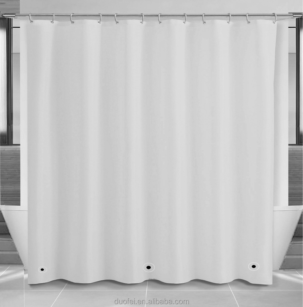 Custom Classic Vinyl Shower Curtain Liner With Magnets