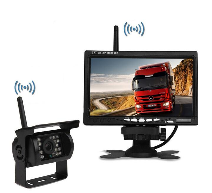 7inch TFT LCD monitor with 2.4GHz Digital Wireless camera System 24V