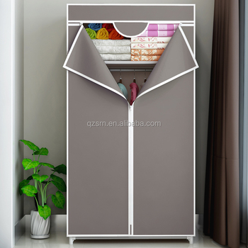 Online Shopping India New Model Bedroom Furniture Different Colour Fabric  Cloth Portable Wardrobe Door Designs India