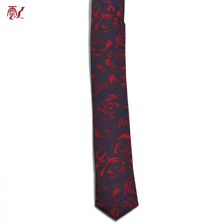 High Quality Chinese Manufacture Custom Floral Polyester Necktie
