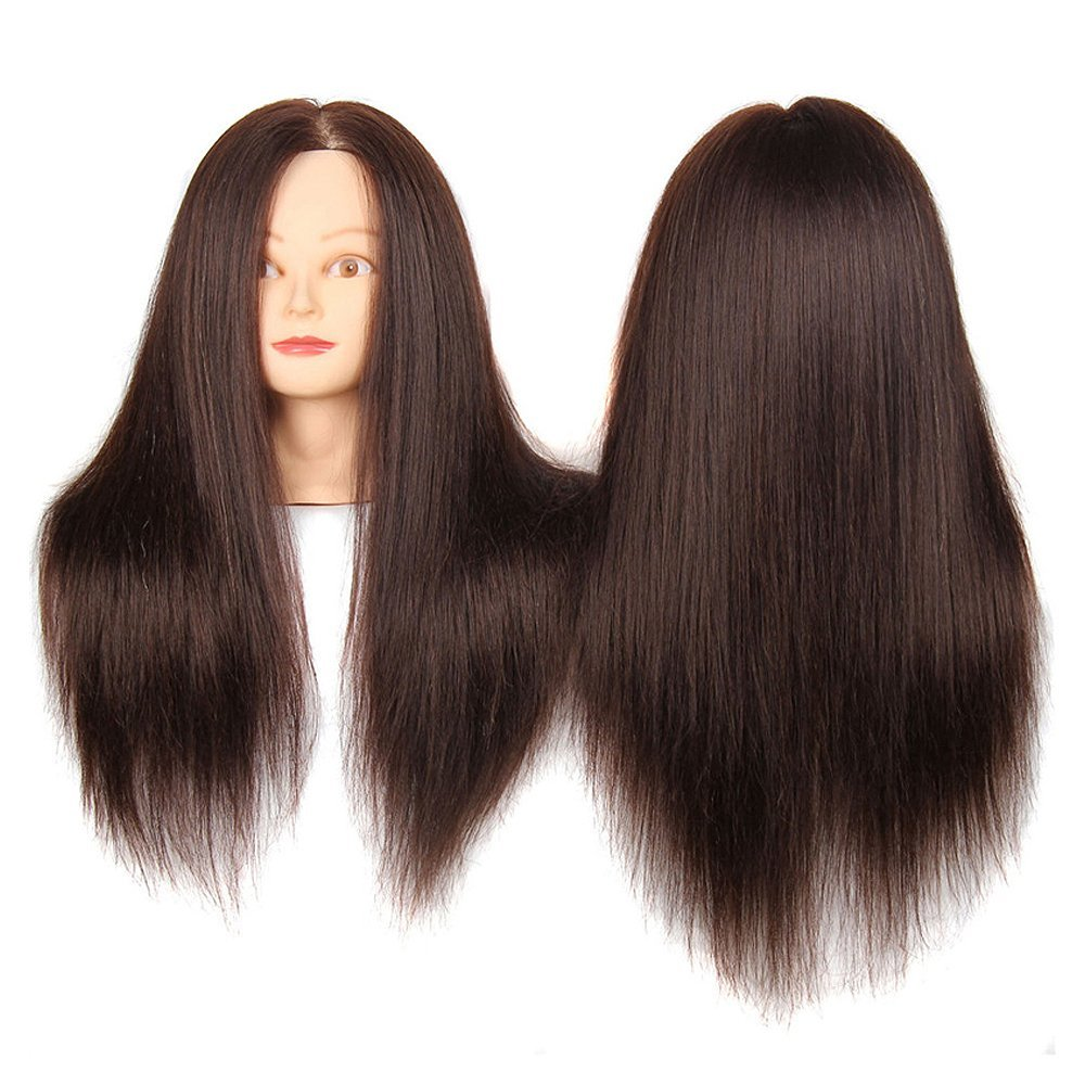Get Quotations Sherui Beauty 22 Synthetic Maniqui Hairdressing Long Hair Cosmetology Mannequin Manikin Training Head Model