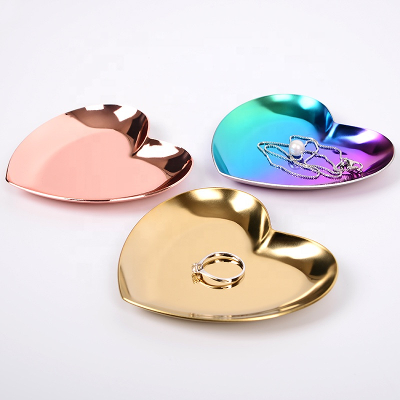 Cute stainless steel material rose gold color heart 모양의 악세사리 요리 metal 링 요리