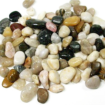 Wholesale white black colored Polished Natural decorative River Stone Garden Pebbles Stone for garden
