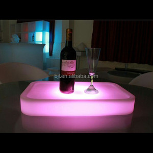 hookah bar led light plastic table decoration furniture for dubai