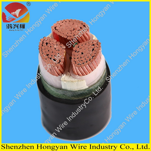 A.C rated voltage 0.6/1kv 3 core power cable pvc insulation or xlpe insulation