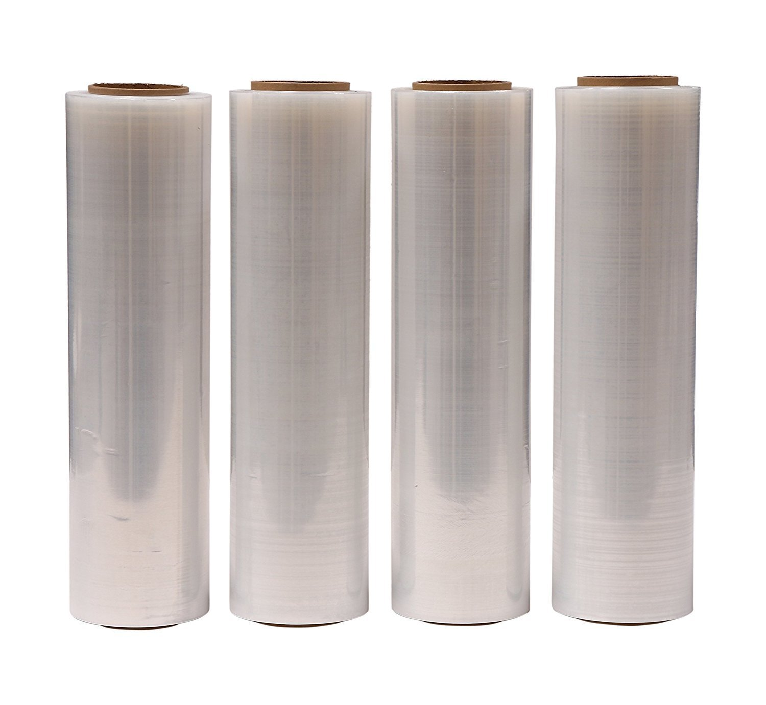 """AMERIQUE Shrink Wrap 4 Pack (4000FTX18"""", 25.2 LBS Total): Stretch Film Plastic Wrap - Industrial Strength Hand Stretch Wrap, 18""""x 1,000 FT Per Roll, 80 Gauge Shrink Film / Pallet Wrap – Clear"""