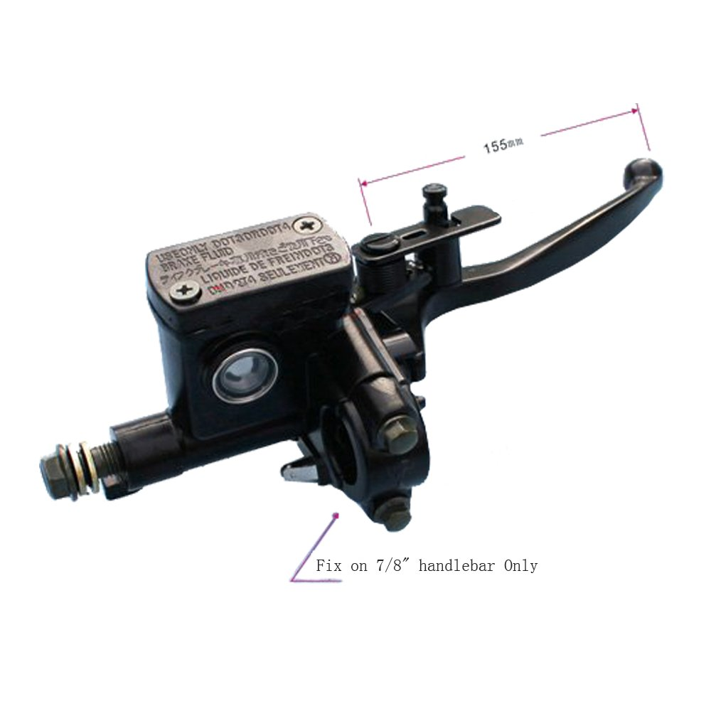 Atv,rv,boat & Other Vehicle Back To Search Resultsautomobiles & Motorcycles Useful New Right Side For 50 110 125cc Atv Hydraulic Brake Master Cylinder Lever With Wire