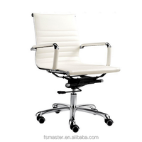 Replica High quality Charles and Ray Chrome frame executive swivel low back full mesh office chair