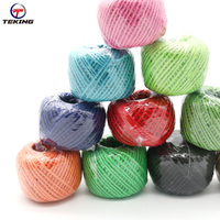 100% natural jute twine rope decorative braided colored hemp rope