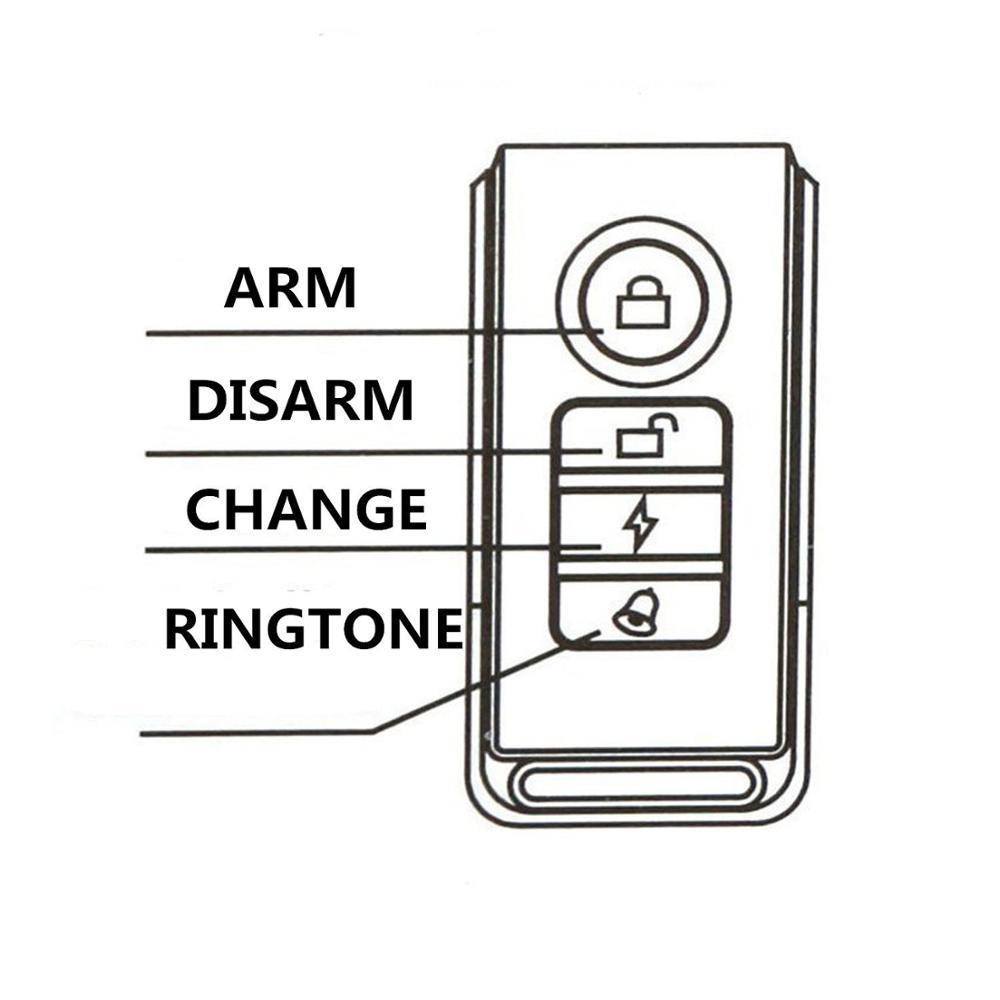waterproof motion sensor distance alarm wireless for car
