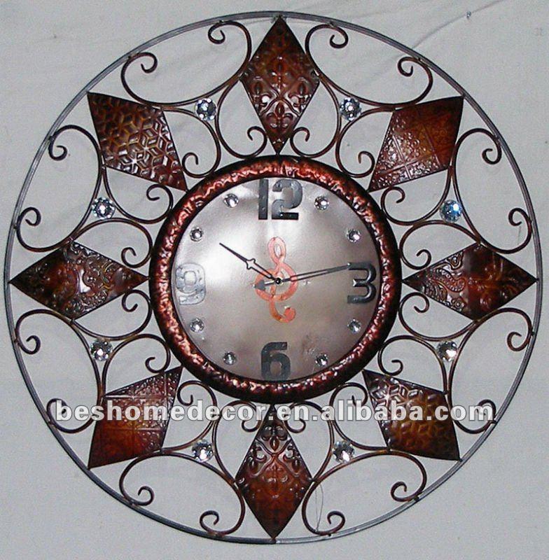 Sin marco reloj de pared( ce& rohs)-Relojes de Estilo Antiguo ...