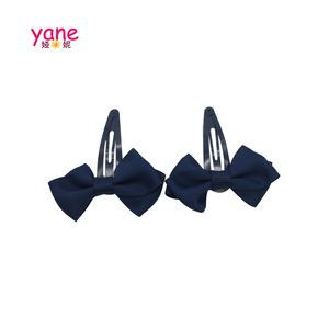 Wholesale baby girls bow hair clips metal snap clips hair accessories