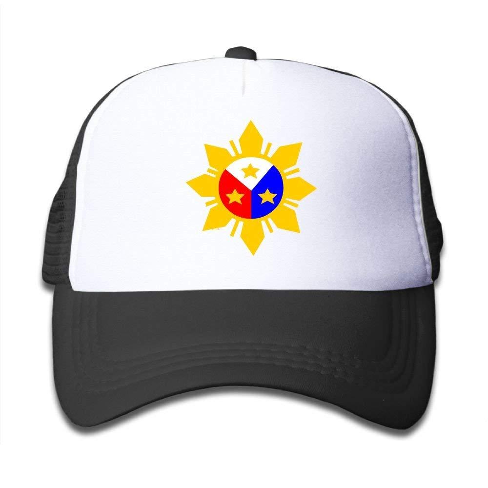 489aadb820a Get Quotations · Kid s Filipino Flag Sun Star Trucker Baseball Cap  Adjustable Mesh Hat Girl Boy