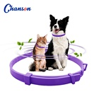 soft unique rubber neck calming dog collar with lavender oil help reduce stress of pets