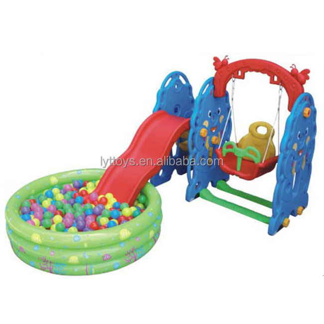 Colorful children plastic pool slide kids indoor playground equipment