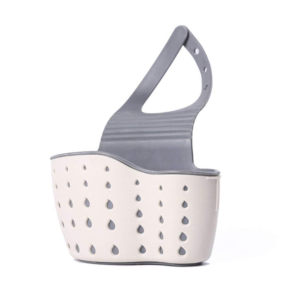 Adjustable Design Snap Sink Faucet Housing Cradle Kitchen Shelving Rack Kitchen Sponge Holder Storage Basket Green