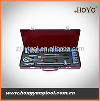 24pcs tool set wrench and sockets in package metric size