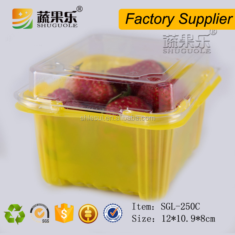 Plastic Dispoable Food Blister Packaging Container For Tomato/Strawberry/Cherry/Fruit