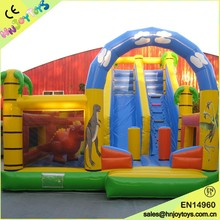 giant inflatable dragon city bouncy with slide combo on sale