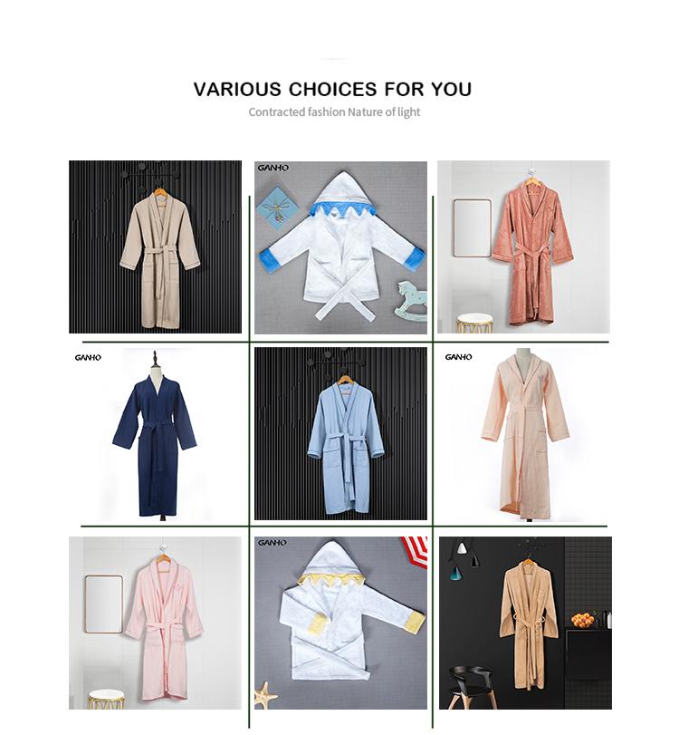 ユニセックス高級 100% 綿織 5 スターホテル四季 cutpile バスローブ、バスローブ、パジャマ、パジャマ、バスローブとベルト