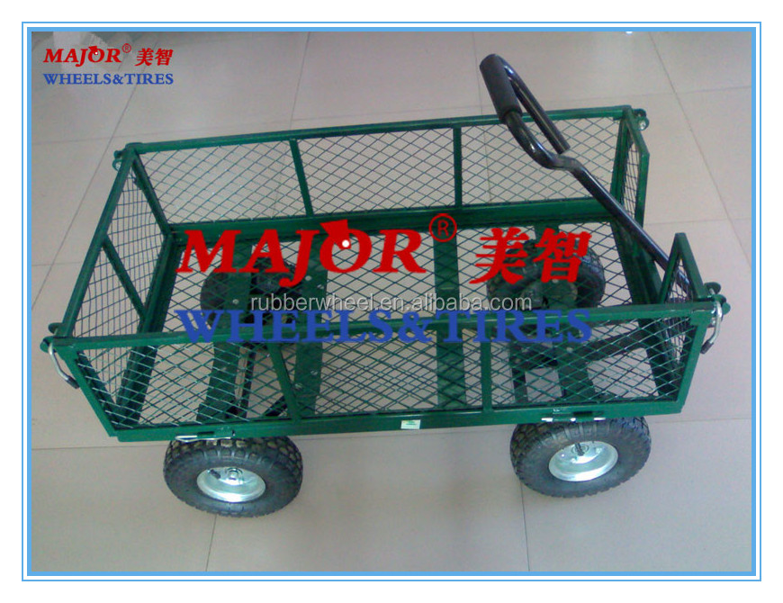 garden heavy duty utility 4 wheel trolley cart RC1840A