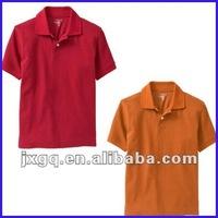 Cool color pique design childrens school uniform 100 cotton polo shirts