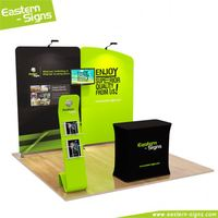 Luxury aluminum 100% polyester trade show display free standing 3x3 exhibition booth material