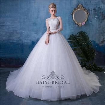 Plus Size Long Sleeves Ball Gown Wedding Dress Bridal Dress China - Buy  Custom Made Wedding Dress,Wedding Dress Detachable Skirt,Wedding Dress Long  ...