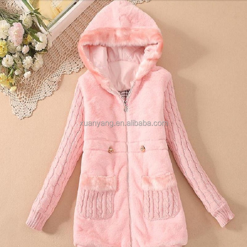 Hot Sale Kids Wholesale Long Winter Clothes Children Faux Fur Coats For Girls