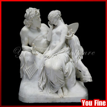 Cheap Garden Life Size Greek Statues Pan Comforting Psyche