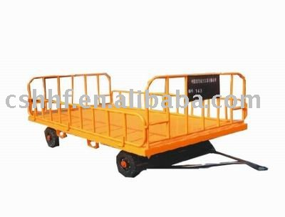 4-rails luggage and baggage trailer and cart for logistic and airport and post office