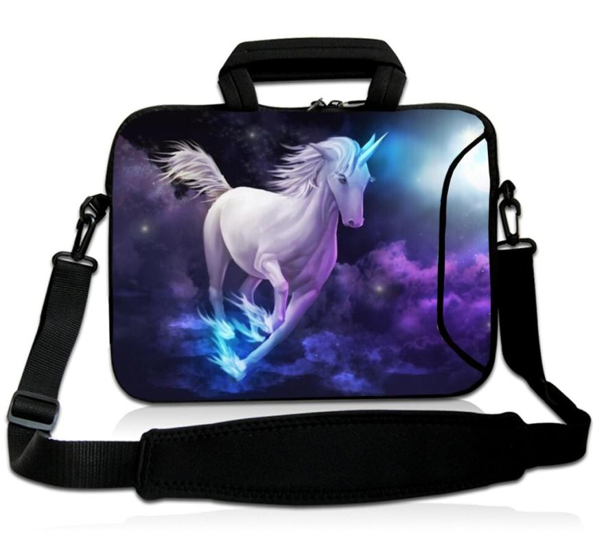 BUBM Neoprene Laptop Sleeve Shoulder Bag With Handle Adjustable Strap