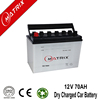 12v 70ah 65d31 n70 dry charged car automotive battery with jis standard terminal
