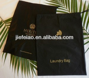 luxury hotel non woven cheap free drawstring laundry bag