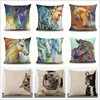Custom-made abstract oil painting steed digital printing latest design cushion cover wholesale