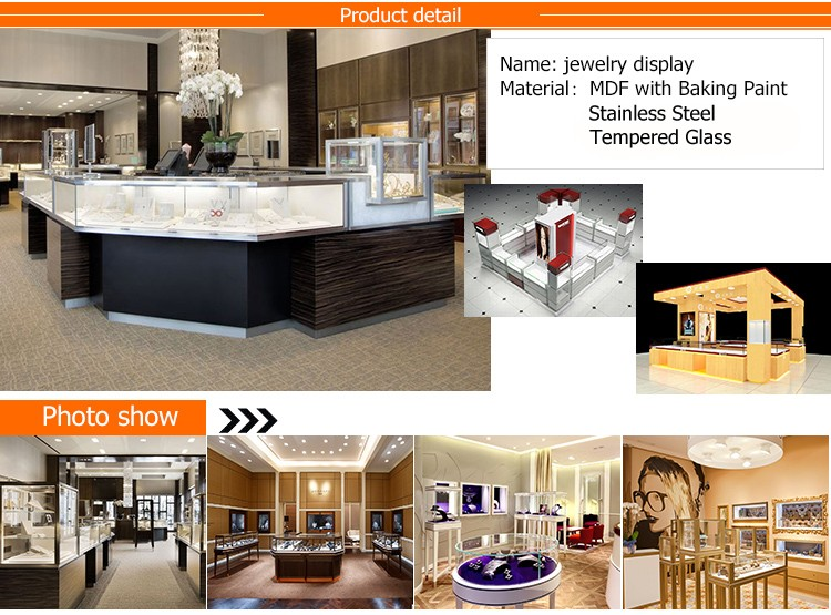 Tempered Glass Jewelry Display Furniture Indian Jewellery Showroom Designs