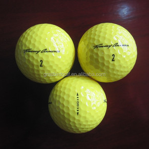 2 LAYERS YELLOW GOLF BALL TOMMY ARMOUR CONFIRMATION BALL