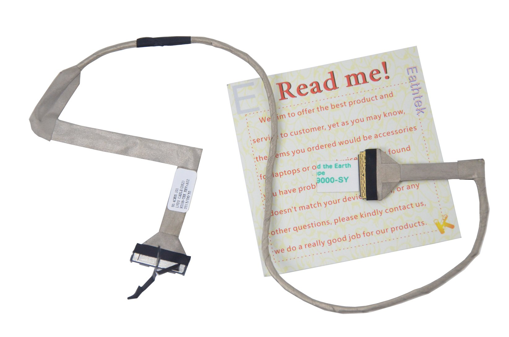 """Eathtek New LCD Video Flex Cable for Dell Inspiron 17 1750 17.3"""" series, Compatible with part# G600T 0G600T 50.4CN05.101 50.4CN05.001 CN-0G600T"""