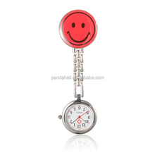 Red Smile Face Clip Watch Nurse Watch China Wholesale(WACH-N007-03C)