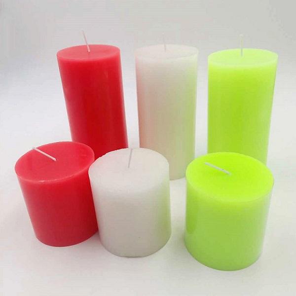 Factory Supply Decor white unscented smokeless wax pillar candles