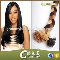 kertain hair extension remy hair,hard/soft fule,nail tip