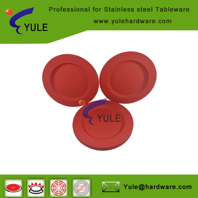 High quality red rubber charger plates for restaurant 06# 30.5cm