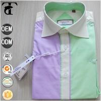 mixed color combination men shirt for suit latest fashion suit for mens
