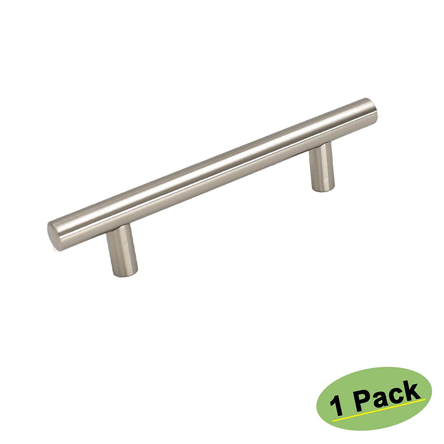 3.5 inch Cabinet Pulls Brushed Nickel - Homdiy HD201SN Stainless Steel Kitchen Cabinet Door Hardware Modern Cupboard Closet Desk Drawer Handles Knobs 1 Pack