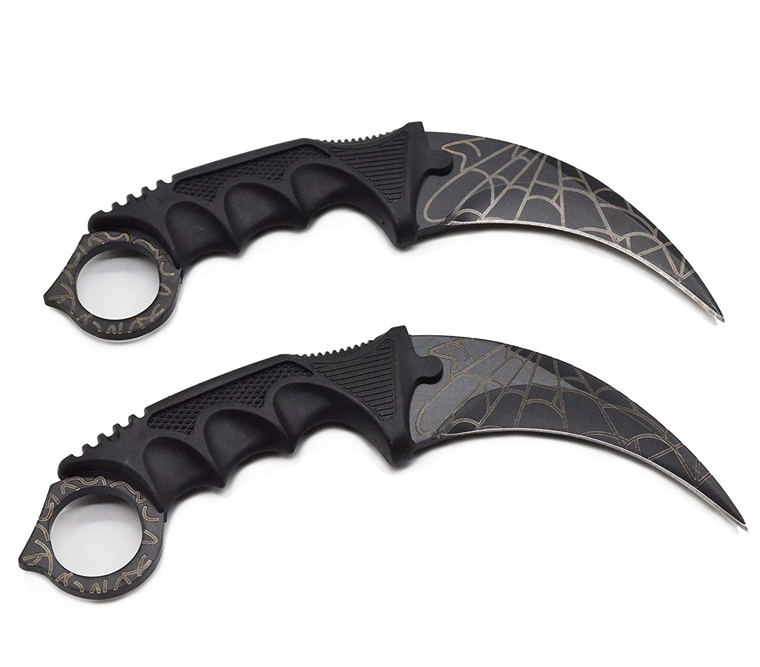 Karambit, Stainless Steel Camping Hunting Knife/Tactical Knife/Karambit -Fixed Blade (Set of 2)