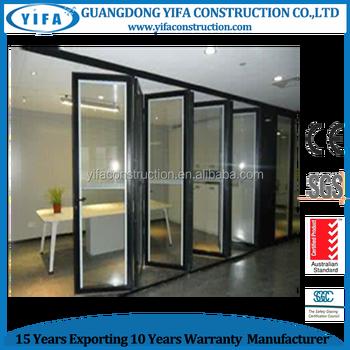 Cheap Price Used Commerical Glass Anodized Aluminium Bi Folding Door ...