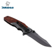 Stainless Steel Blade Wooden Handle Outdoor Pocket Survival Tool Knife